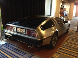 "This year's theme was ""Back to the Future"" and there was even a Delorean!"